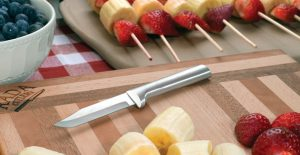 The Rada Regular Paring knife with an array of fruits.