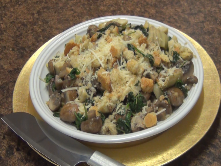 Spinach and Mushrooms Recipe | Healthy Side Dish