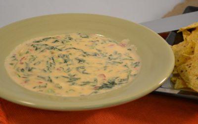 Spinach Queso Blanco Dip Recipe | Hot Cheesy Spinach Dip