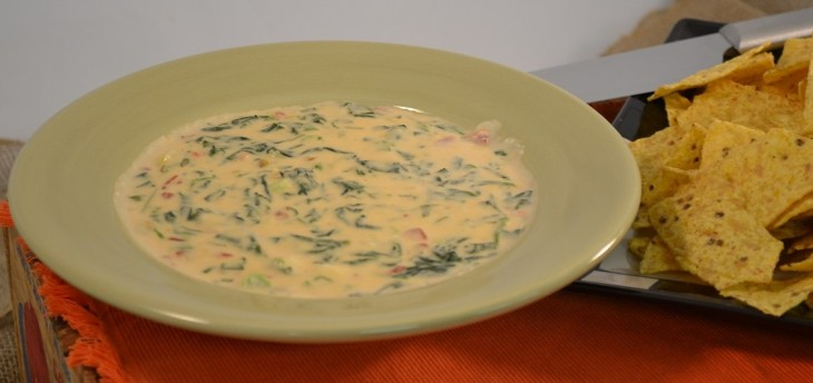 Spinach Queso Blanco Dip Recipe | Hot Cheesy Spinach Dip