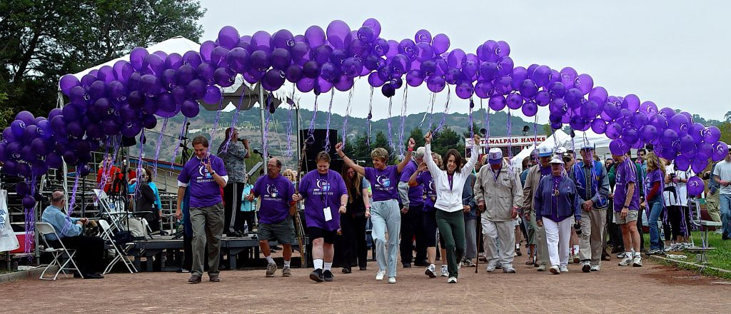 A group of Relay for Life marchers.