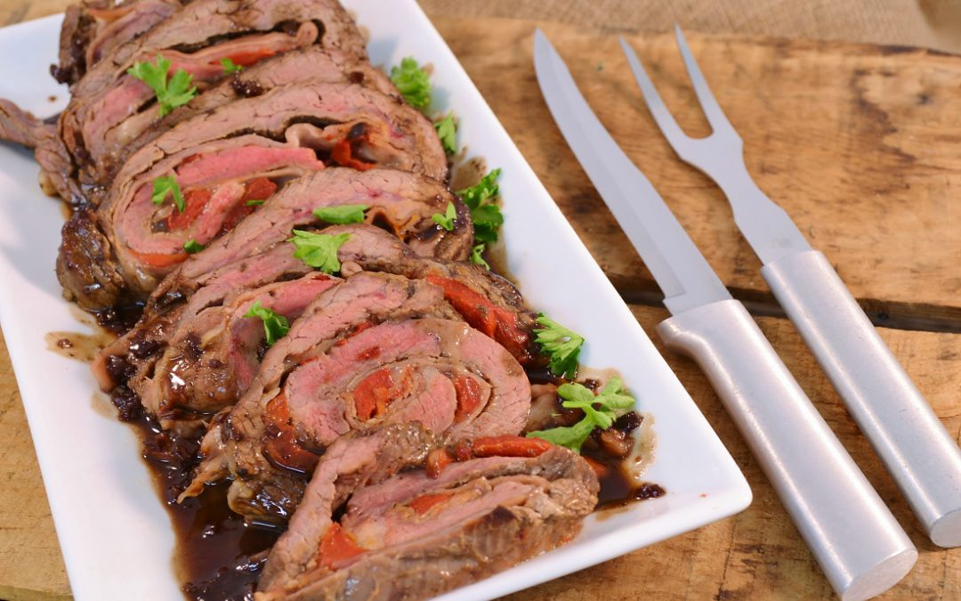 Flank Steak Recipe | Rolled Provolone Steak