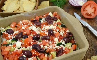 7-Layer Greek Dip Recipe | Hummus Dip