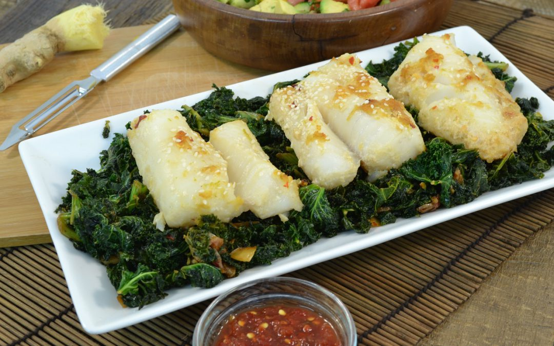 A delicious baked cod with a Rada Vegetable Peeler.