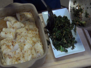 Jess plates cod and spinach.