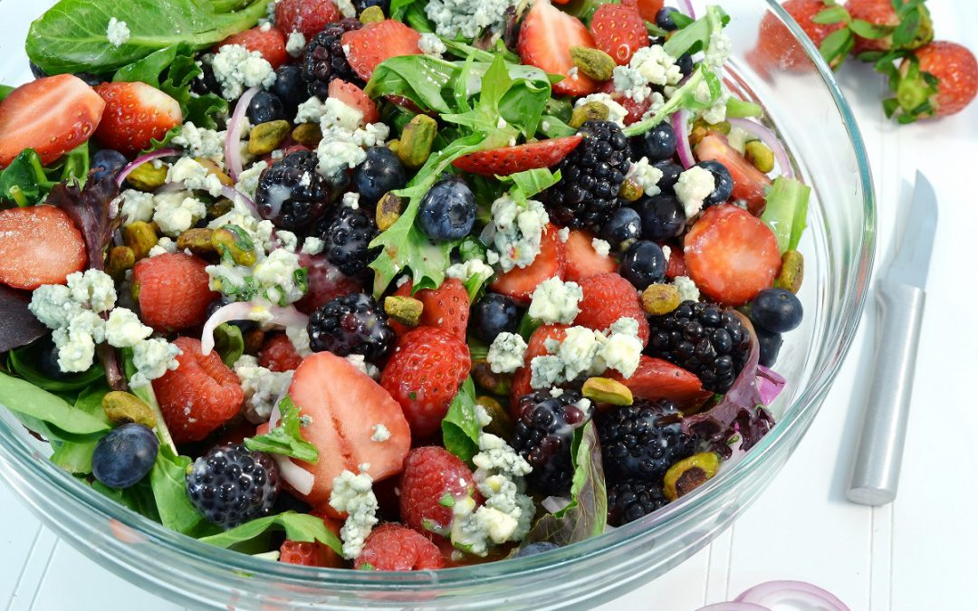 Berry Blue Summer Salad Recipe | Berry Salad
