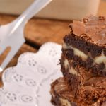 A delicious cheesecake brownie with a Rada Spatula.