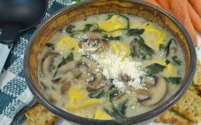 Tortellini Soup Recipe | Tortellini Mushroom Spinach Soup
