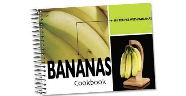 A cookbook with 101 delicious banana recipes.