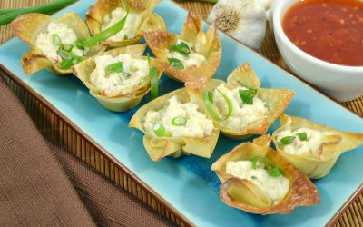 Baked Crab Rangoons Recipe | Wonton Recipe