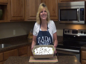 Kristi poses with completed mixture.