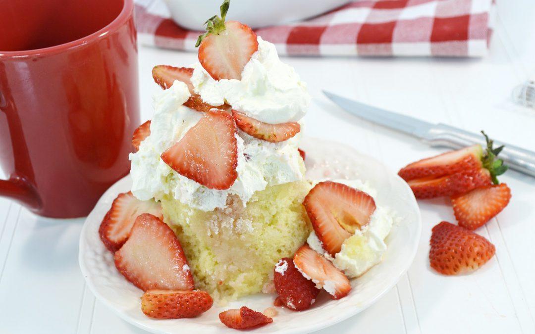 Strawberry Shortcake in a Mug Recipe | Microwave Dessert