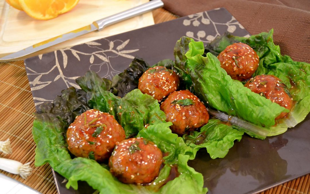 Asian Turkey Meatballs Recipe | Spicy Asian Meatballs
