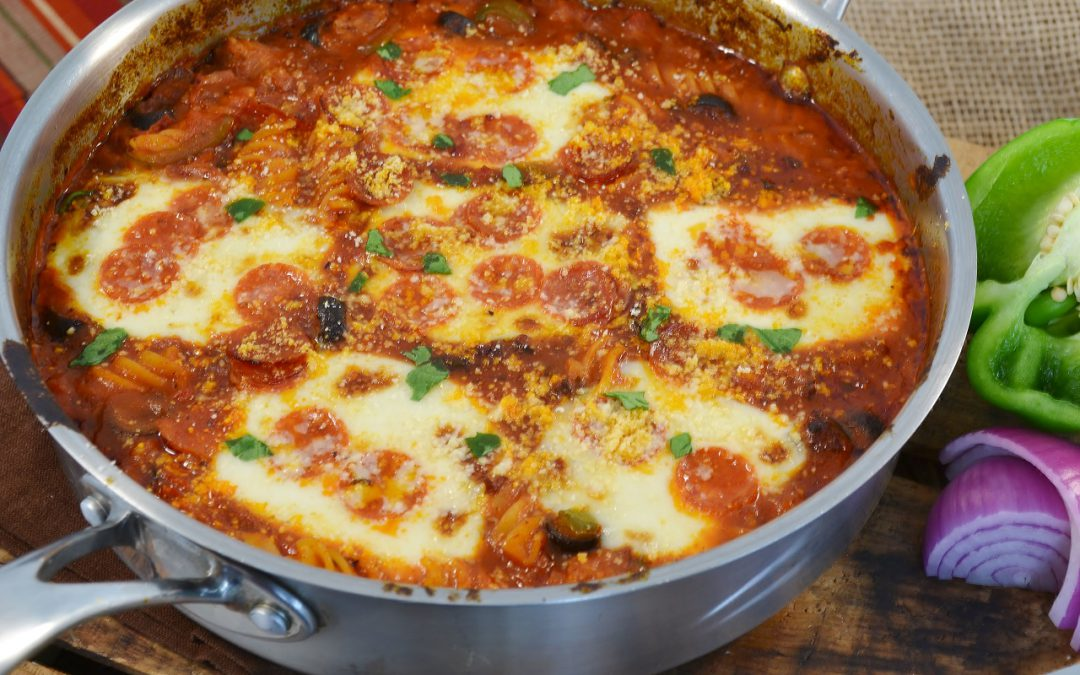3-Meat Skillet Pizza Recipe | Pizza Skillet Casserole