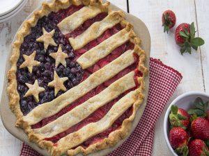 A scrumptious American Flag Pie.