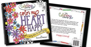 Rada's Color My Heart Happy adult coloring book.