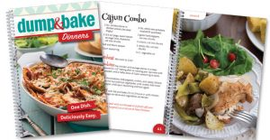 Rada's Dump & Bake Dinners recipe book.