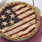 An incredible American Flag Pie.