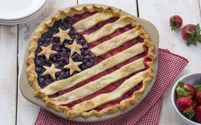 American Flag Pie Recipe | Patriotic Dessert