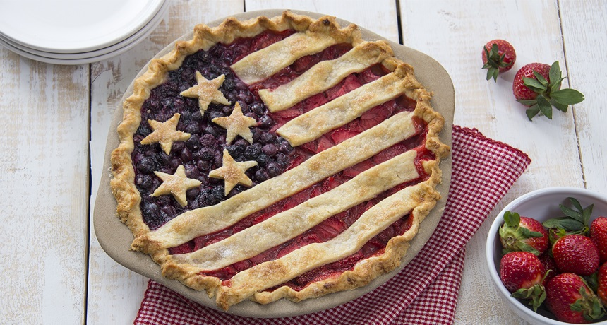 American Flag Pie Recipe | Patriotic Dessert