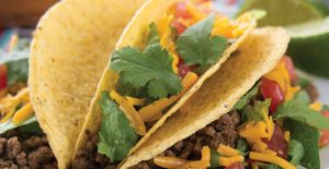 Tacos seasoned with Rada's delicious Mexican Seasoning.