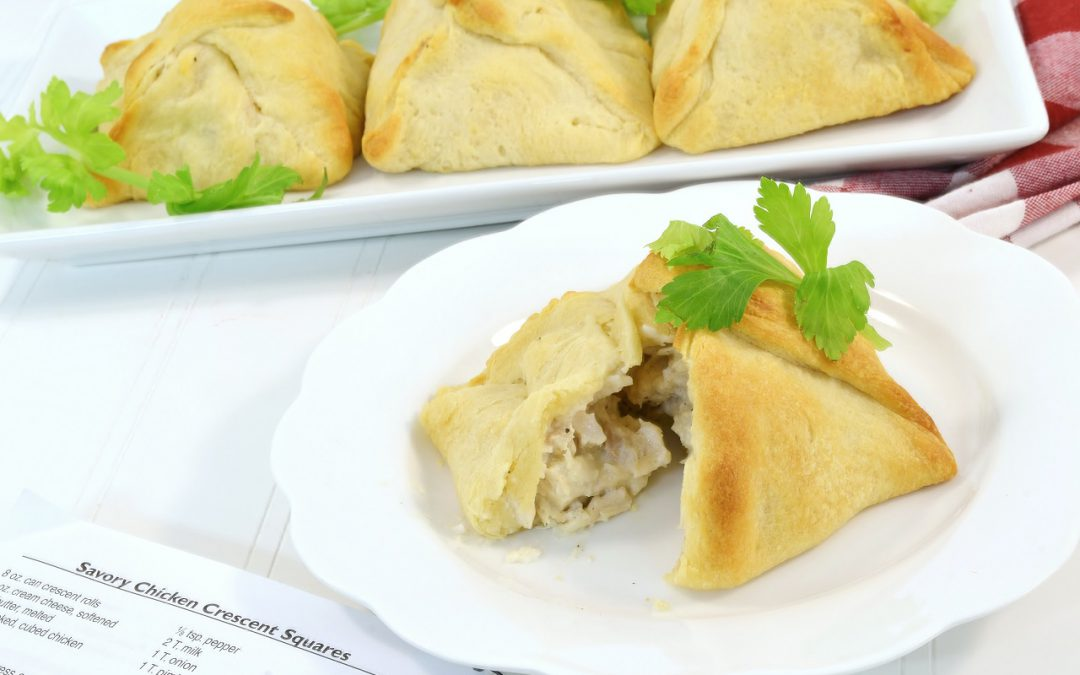Delicious crescent squares filled with chicken.
