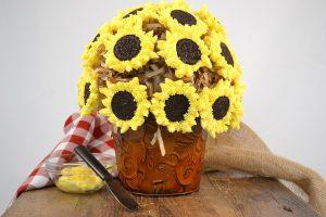 A gorgeous sunflower cupcake bouquet.