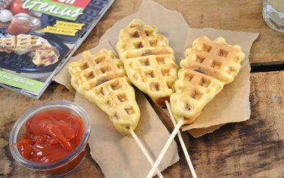 Waffle Iron Corn Dogs Recipe | How to Make Waffle Hot Dogs