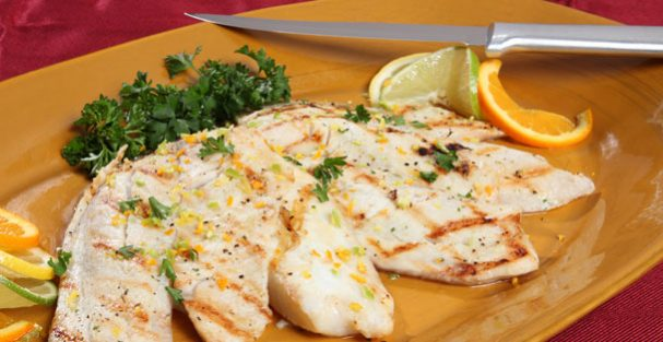 Grilled fish made with Garlic Citrus Pepper Seasoning from Rada Cutlery.