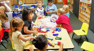 Kids play at a Head Start program.