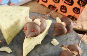 A delightful spread of Halloween Chocolate Mice.