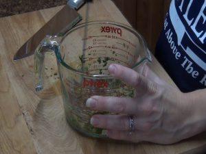 Jess uses a Rada Handi-Stir to mix ingredients.
