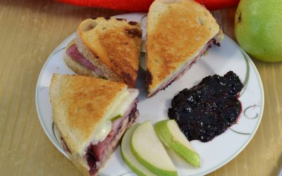 Sourdough Ham Sandwich Recipe | Ham Sandwich with Blackberry Sauce