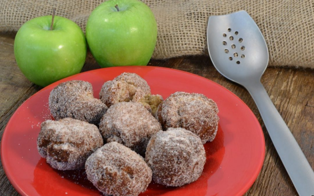Apple Cider Fritter Bites Recipe | Apple Drop Doughnuts