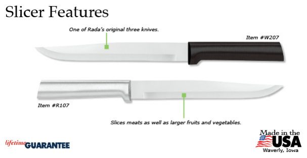 Rada's classic Slicer knife has an array of appealing features.