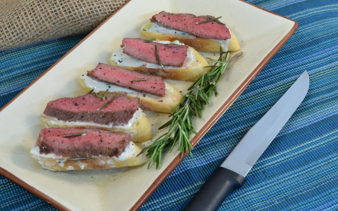 Steak Crostini Recipe | Easy Steak Appetizers