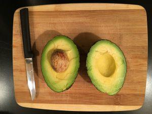 A Rada paring knife with an avocado.