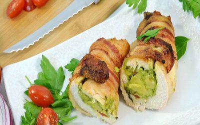 Chicken Guacamole Bombs Recipe | Bacon Chicken Rollups