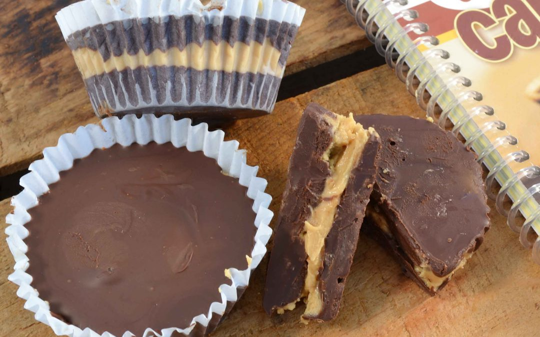 Delicious copycat peanut butter cups made with Rada Cutlery products.