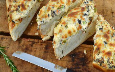 Olive Bread Recipe | Mediterranean Cheese Bread
