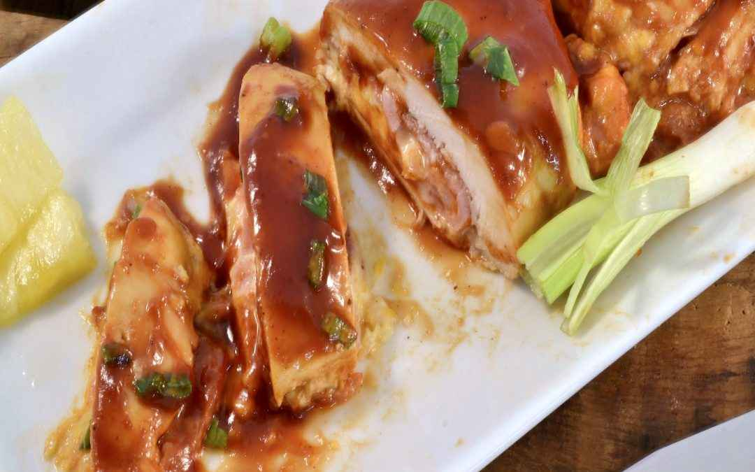 Hawaiian-Style BBQ Chicken Recipe | Stuffed Hawaiian Chicken