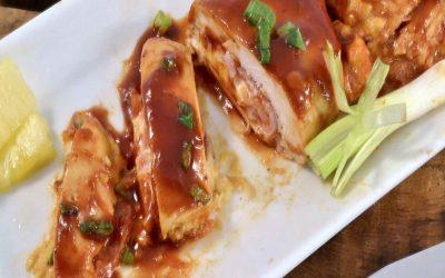 Hawaiian-Style BBQ Chicken Recipe | Stuffed Hawaiian Chicken