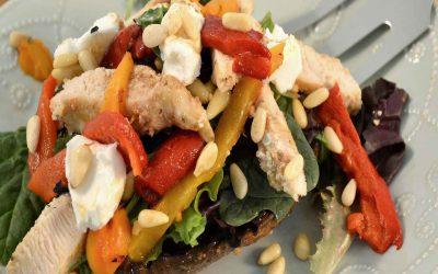 Portabella Mushroom Salad Recipe | Chicken and Mushroom Salad