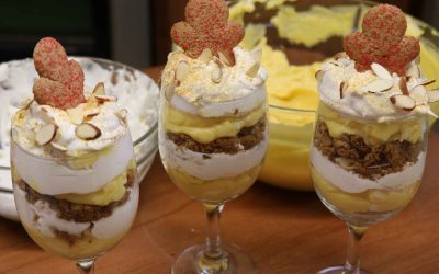 Eggnog Ginger Trifle | Holiday Trifle Dessert