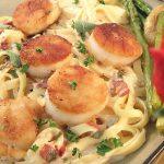 Sea Scallops with Champagne Pasta