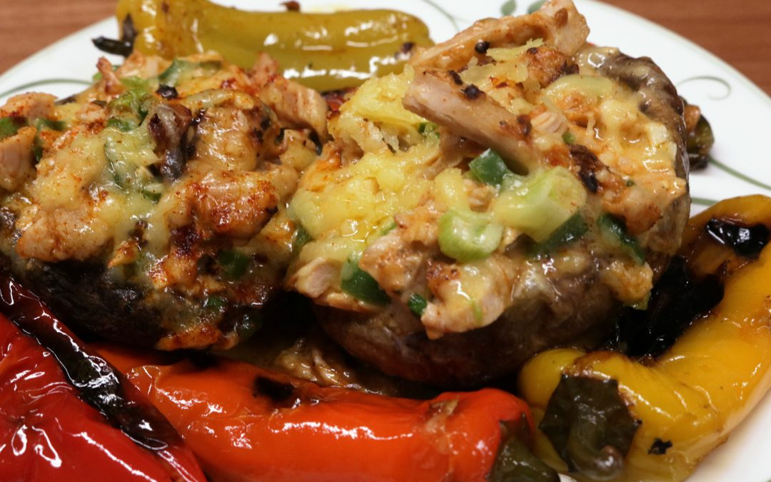 Southwest Chicken Mushrooms Recipe | Best Stuffed Mushrooms Recipe