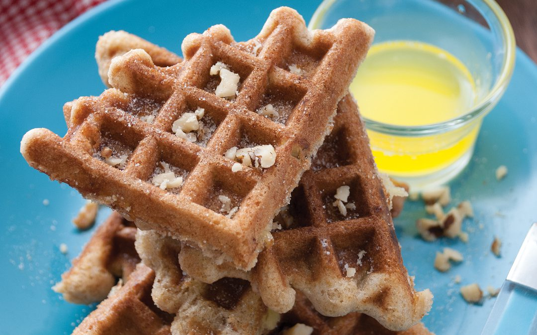Waffle-Stomped Apple Bread