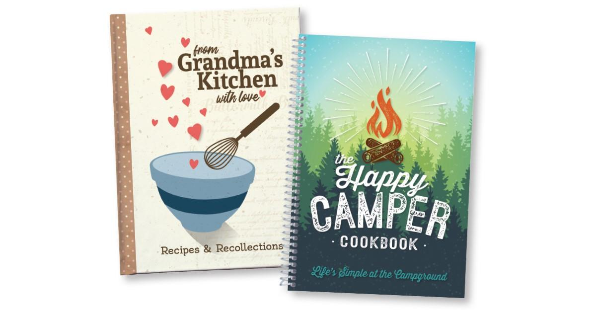Rada Books including From Grandma's Kitchen with Love and the Happy Camper Cookbook