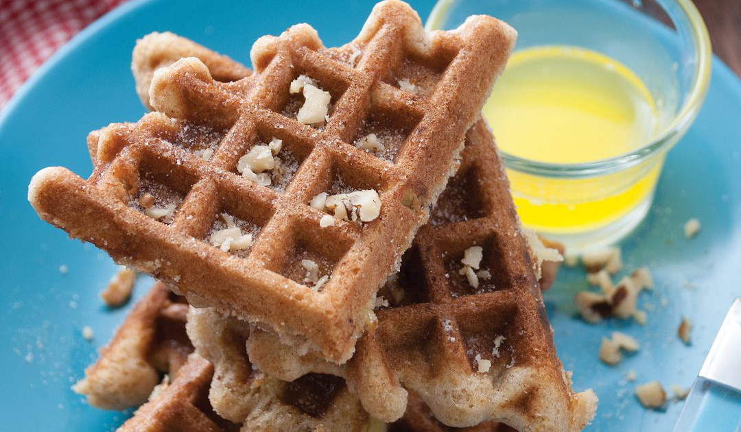 Apple Bread in a Waffle Iron