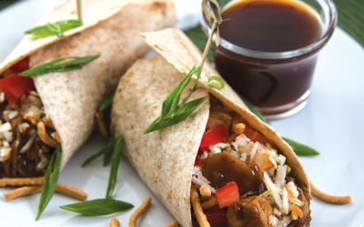 Supermarket Shortcuts & Asian Chicken Wraps Recipe